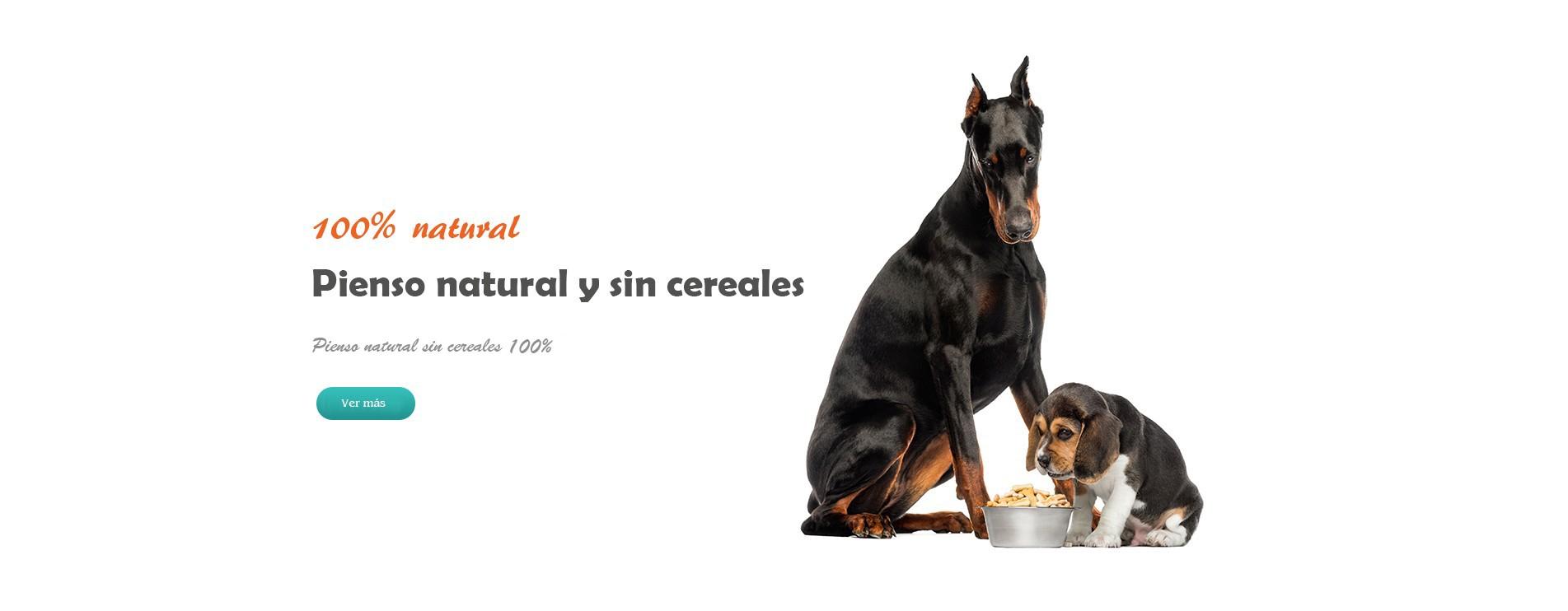 Pienso para perros natural y sin cereales